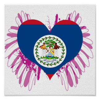 Buy Belize Flag Poster