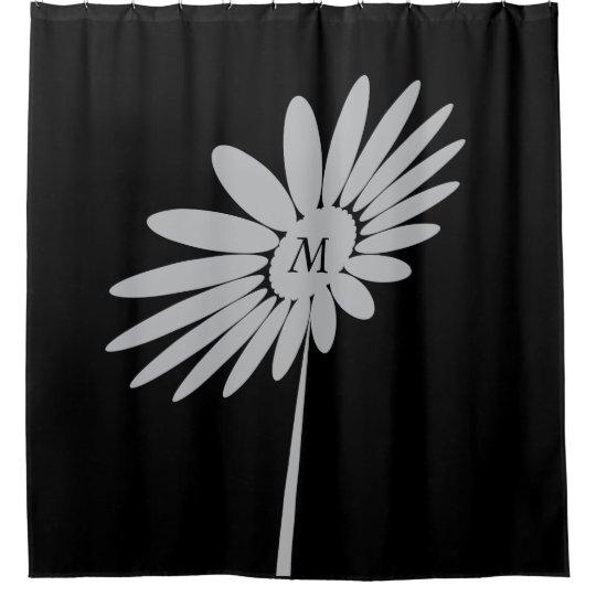 Buy Cool Modern White Flower Shower Curtain