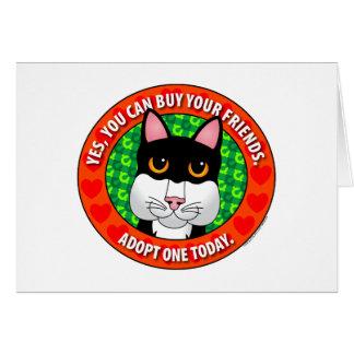 Buy Friends-Cat Greeting Card