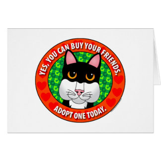 Buy Friends-Cat Greeting Card