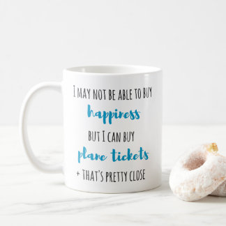 buy happiness plane tickets 325ml mug