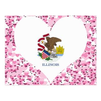 Buy Illinois Flag Postcard