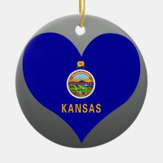 Buy Kansas Flag Ceramic Ornament