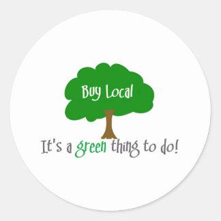Buy Local Classic Round Sticker