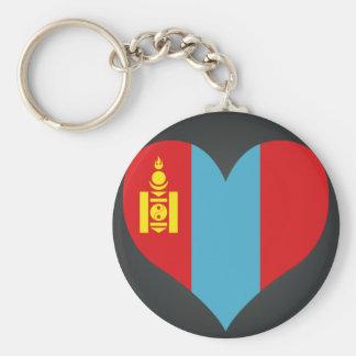 Buy Mongolia Flag Basic Round Button Keychain