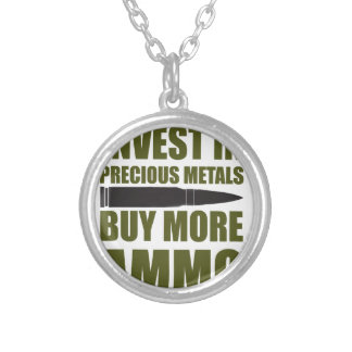 Buy more Ammo, invest in Metal Silver Plated Necklace