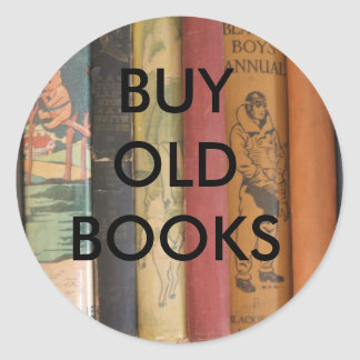 BUY OLD BOOKS CLASSIC ROUND STICKER