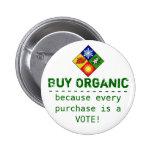 Buy Organic Pinback Buttons