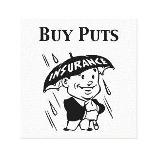 Buy Puts Canvas Print