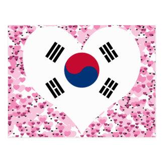 Buy South Korea Flag Postcard