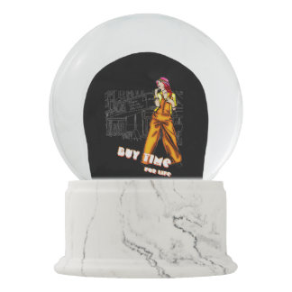Buy time, for life snow globe