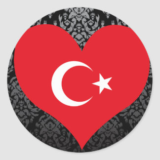 Buy Turkey Flag Classic Round Sticker