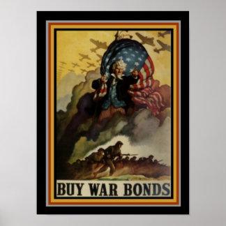 Buy U.S. War Bonds Poster 12 x 16