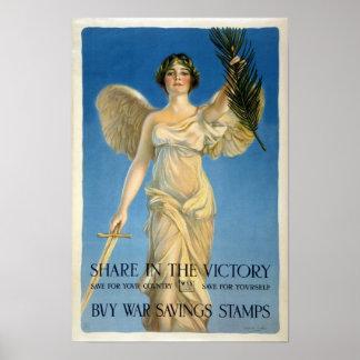 Buy War Savings Stamps, 1918. Vintage WWI Poster
