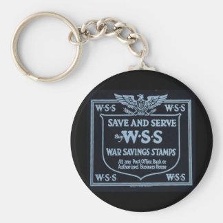 Buy War Savings Stamps Vintage World War I Basic Round Button Keychain