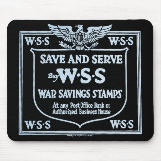 Buy War Savings Stamps Vintage World War I Mouse Pad
