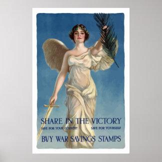 Buy War Savings Stamps -- WW1 Poster