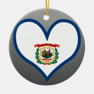 Buy West Virginia Flag Ceramic Ornament