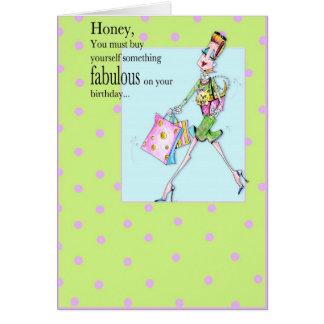 Buy yourself something Birthday card