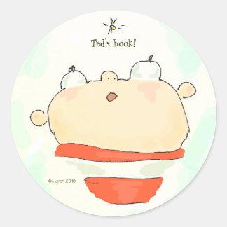 buzz boy bookplate classic round sticker
