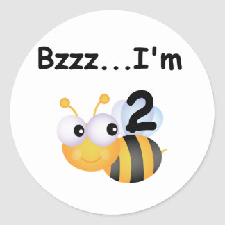 Buzz Bumblebee 2nd Birthday T-shirts and Gifts Classic Round Sticker