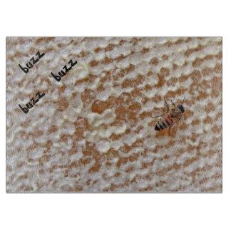 Buzz Buzz Glass Cutting Board
