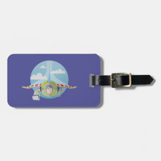 Buzz Lightyear Flying Despeckled Retro Graphic Luggage Tag