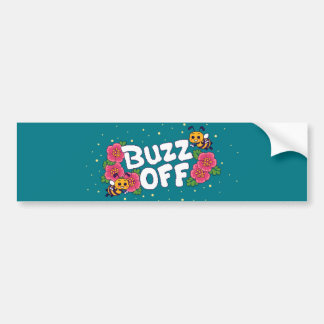 Buzz Off Bumper Sticker