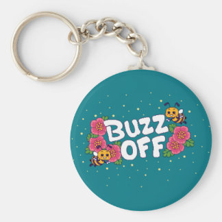 Buzz Off Keychain