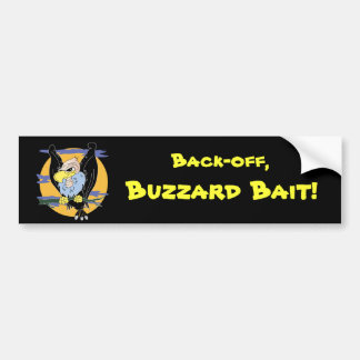 Buzzard bumper sticker