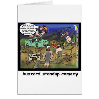 Buzzard Comedy Clubs Funny Cartoon Gifts & Tees Card