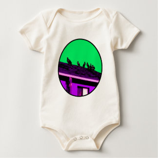 Buzzards o Purple Green The MUSEUM Zazzle Gifts Rompers