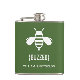 {BUZZED} Bee Bridal Party Gift (in many colors!) Flasks