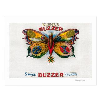 Buzzer Cigar Box Label Postcard