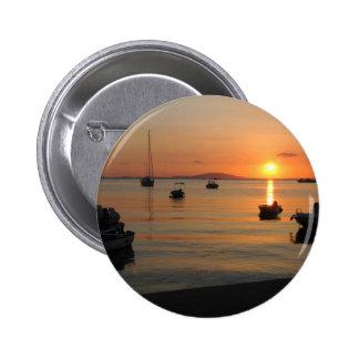 Buzzer Sunset in Novalja in Croatia 2 Inch Round Button