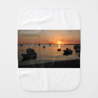 Buzzer Sunset in Novalja in Croatia Burp Cloth