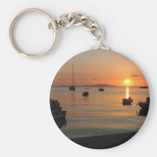Buzzer Sunset in Novalja in Croatia Keychain
