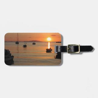 Buzzer Sunset in Novalja in Croatia Luggage Tag