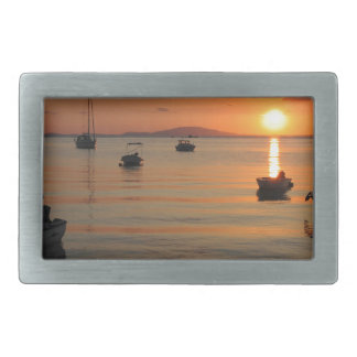 Buzzer Sunset in Novalja in Croatia Rectangular Belt Buckles