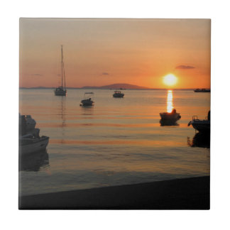 Buzzer Sunset in Novalja in Croatia Tile