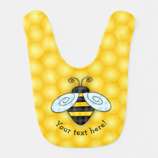 Buzzing Bumblebee and Honeycomb Icon Bib