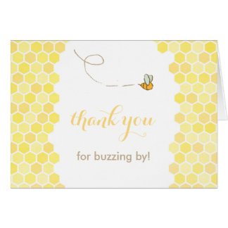 buzzing by thank you card, honey bee thank you card