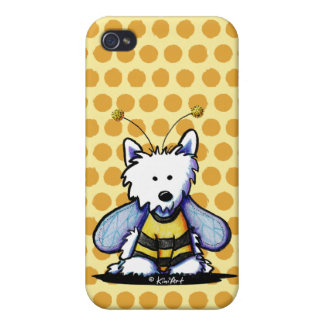Buzzy Bee Westie iPhone 4/4S Covers