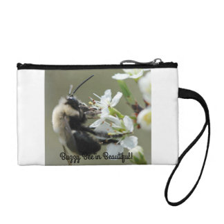 Buzzy Bee'in Beautiful Key Coin Clutch/Makeup Bag Change Purses