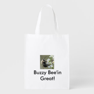 Buzzy Bee'in Great! Reusable Tote Bag Grocery Bag