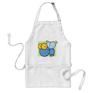 Buzzy the Fly with Green Background Aprons