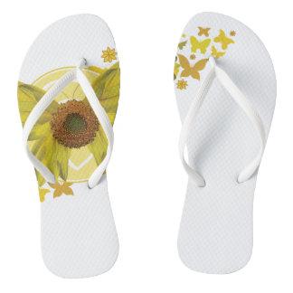 BV Sunflowerfly Flip Flops