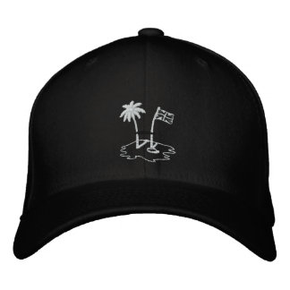 BVI RUGBY Black Embroided Baseball Cap