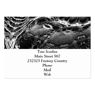 BW Abstract Fantasy Pack Of Chubby Business Cards