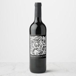 BW Bird Art Cutouts Wine Label